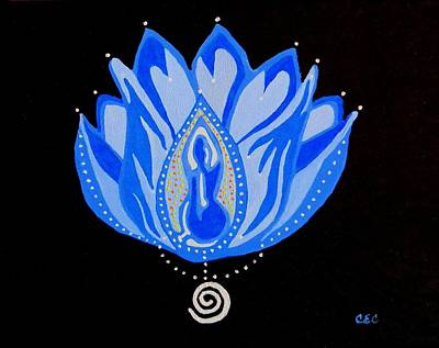 Painting - Blue Lotus by Carolyn Cable
