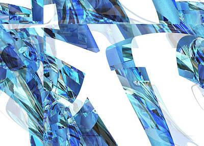 Digital Art - Blue Love - Abstract Art by rd Erickson