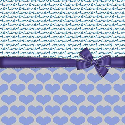 Valentines Day Digital Art - Blue Love by Debra  Miller