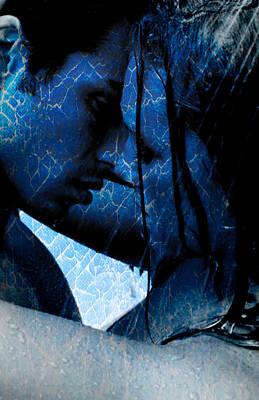 Blue Lovers Art Print by Teri Schuster