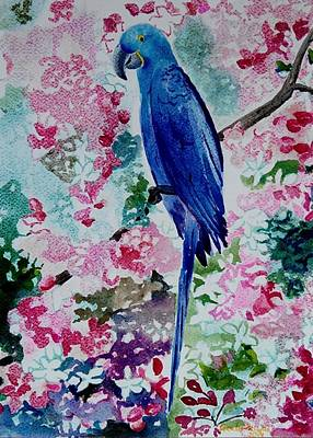 Painting - Blue Macaw  by Geeta Biswas