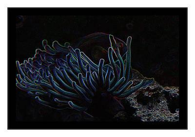 Blue Magic Light Fish  Art Print