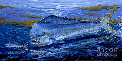 Scuba Painting - Blue Mahi Off0071 by Carey Chen