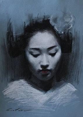 Blue Maiko Art Print