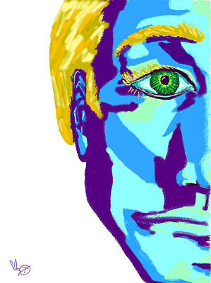 Portraits Painting - Blue Man by Ianoty Art