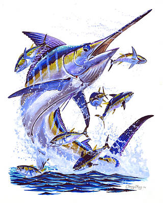 Blue Marlin Art Print by Carey Chen