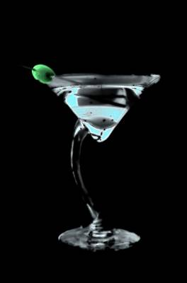 Photograph - Blue Martini by La Dolce Vita