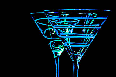 Martini Photos - Blue Martini by Spencer McDonald