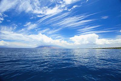 Blue Maui Seascape Art Print
