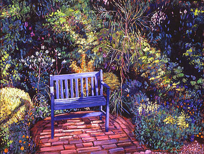 Blue Meeting Chair Art Print by David Lloyd Glover