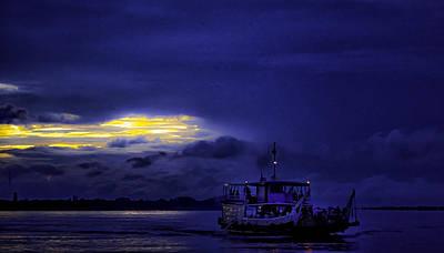 Blue Mekong Morning Art Print by David Longstreath