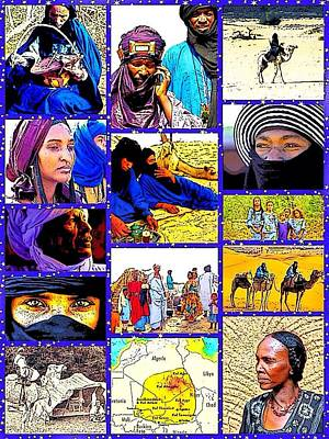 Digital Art - Blue Men Of The Desert by Karen Buford