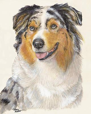 Blue Merle Australian Shepherd Art Print