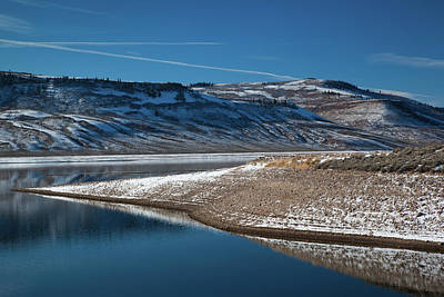 Blue Mesa Reservoir Photograph - Blue Mesa Reservoir In Winter by Panoramic Images