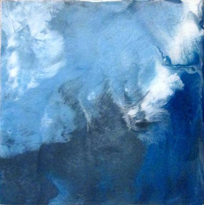 Painting - Blue Metal by Mary Kay Holladay