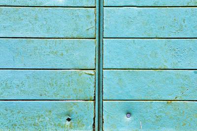 Metallic Sheets Photograph - Blue Metal by Tom Gowanlock