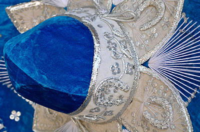 Mexican Fiesta Photograph - Blue Mexican Sombrero Close Up by Brandon Bourdages