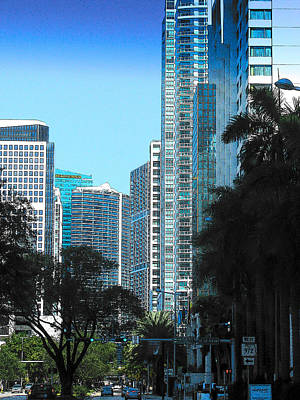Photograph - Blue Miami by Strangefire Art       Scylla Liscombe