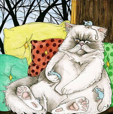 Blue Mice Art Print