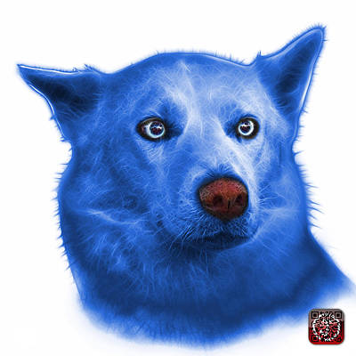 Painting - Blue Mila - Siberian Husky - 2103 - Wb  by James Ahn
