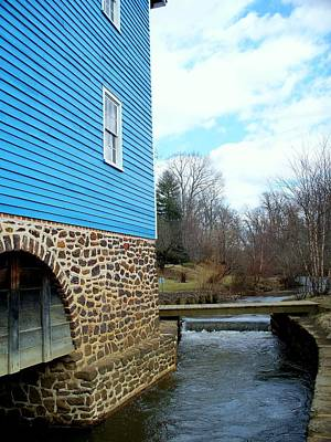 Photograph - Blue Mill Side View by Rick Todaro