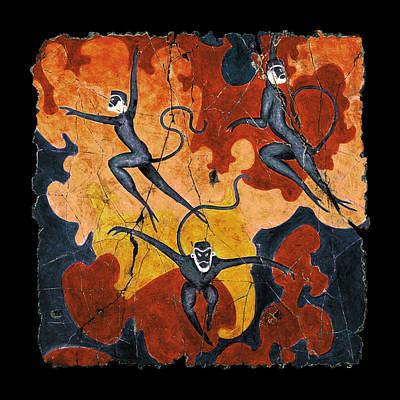 Painting - Blue Monkeys No. 8 by Steve Bogdanoff