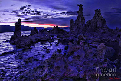 Photograph - Blue Mono Lake Night by Blake Richards