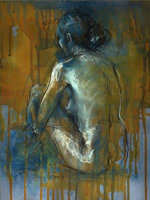Blue Mood Art Print by Lucy Morar