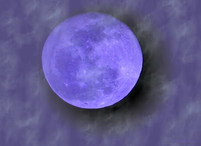 Photograph - Blue Moon 02 26 13 by Joyce Dickens
