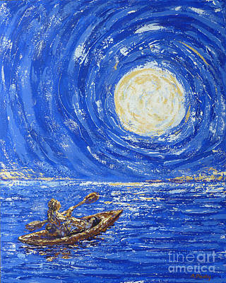 Painting - Blue Moon by Audrey Peaty