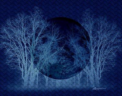 Digital Art - Blue Moon by Ericamaxine Price
