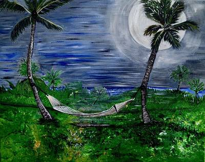 Painting - Blue Moon Hammock by Susan Abrams