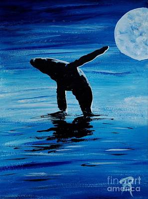 Painting - Blue Moon I - Left Side - Acrylic by GD Rankin