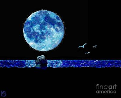 Painting - Blue Moon by LCS Art