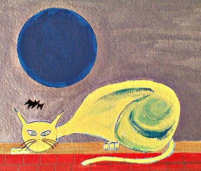 Painting - Blue Moon by Lew Griffin