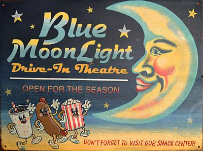 Blue Moon Light Art Print by Sherry Dooley