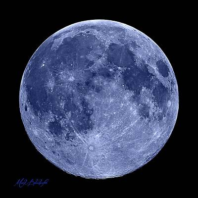 Photograph - Blue Moon by Mark Blauhoefer