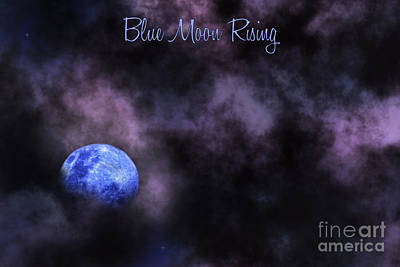 Blue Moon Rising Art Print by Kaye Menner