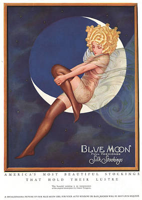 Blue Moon Silk Stockings 1920s Usa Art Print by The Advertising Archives