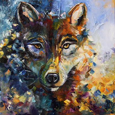 Blue Moon Wolf Art Print
