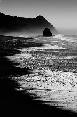Photograph - Blue Morning At The Beach In Black And White by Robert Woodward