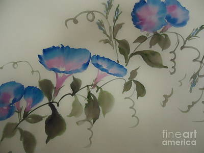 Blue Morning Glory Art Print