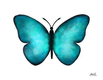 Painting - Blue Morpho Butterfly by Laura Bell