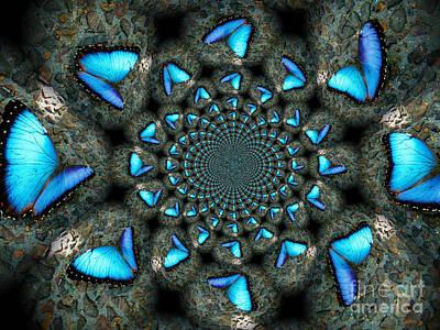 Blue Morpho Morphed Art Print