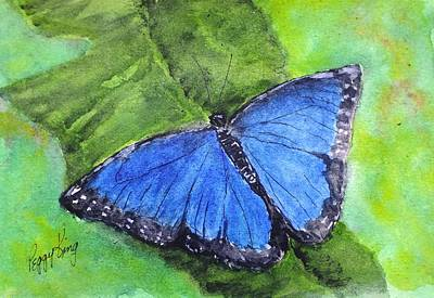 Painting - Blue Morpho by Peggy King
