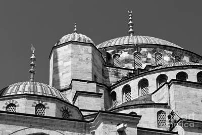 Photograph - Blue Mosque Angles And Curves 03 by Rick Piper Photography