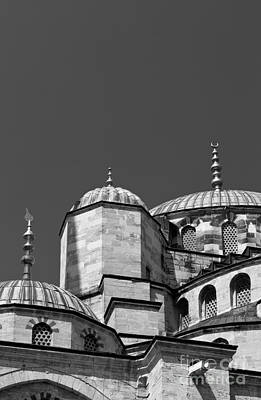 Photograph - Blue Mosque Angles And Curves 04 by Rick Piper Photography