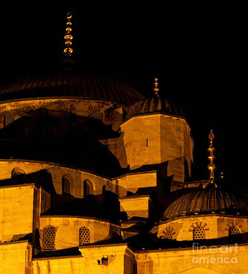 Photograph - Blue Mosque At Night 02 by Rick Piper Photography