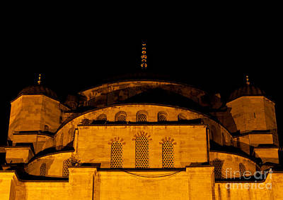Photograph - Blue Mosque At Night 03 by Rick Piper Photography