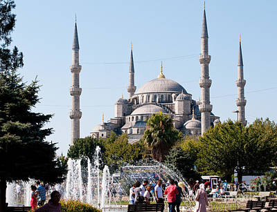Photograph - Blue Mosque Blue Sky 01 by Rick Piper Photography
